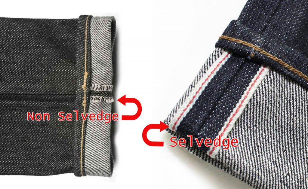 Selvedge & non selvedge denim